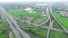Aerial View of Highway - stock footage