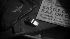 Stock Video Footage of RAF  | Battle of Britain | WW2 Newspaper Headline | Vintage Newsreel 2