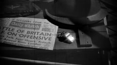 RAF  | Battle of Britain | WW2 Newspaper Headline | Vintage Newsreel 3 Stock Footage