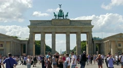 The Brandenburg Gate in Berlin - one of the best known landmarks of Germany. Stock Footage