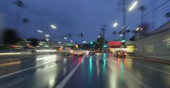 POV driving plates Laurel Canyon rain at dusk. 4K UHD timelapse hyperlapse. Stock Footage