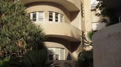 Old bauhaus building in Tel-Aviv, Israel Stock Footage