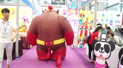 The giant toy animal in the exhibition center. Stock Footage