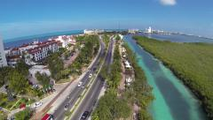Aerial View of Cancun, Mexico Arkistovideo