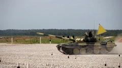 Stock Video Footage of Tank Biathlon World Championships in Moscow, Russia