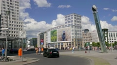 Modern architecture at Potsdamer Platz in Berlin, Germany. - stock footage