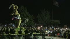 Ogoh-Ogoh parade preceding Nyepi in Sanur Stock Footage