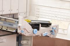 Closeup shot photocopier machine Stock Photos