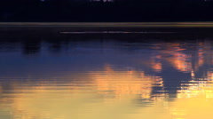 Beautiful Sunrise over the water surface. Stock Footage