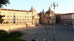 Piazza del Popolo Stock Footage