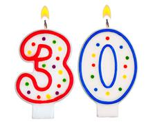 Birthday candles number thirty - stock photo
