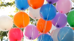 Colorful helium balloons Stock Footage