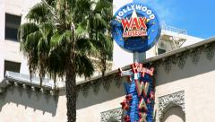 4K, UHD, Wax Museum on Hollywood Boulevard in Los Angeles, California - stock footage