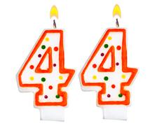 Birthday candles number forty four - stock photo