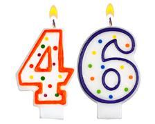 Birthday candles number forty six - stock photo