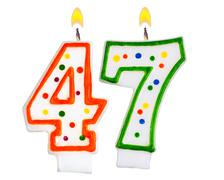 Birthday candles number forty seven - stock photo