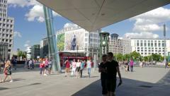 Potsdamer Platz in Berlin, Germany. Daily life scene Stock Footage