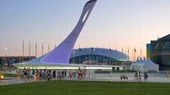 The main Olympic torch, Sochi, Russia. 1280x720 Stock Footage