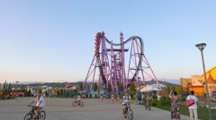 Stock Video Footage of Amusement park. Sochi-Park  Adler, Russia. 1280x720