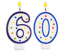 Birthday candles number sixty - stock photo