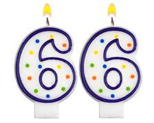 Birthday candles number sixty six - stock photo