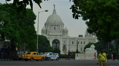 Wide shot of Victoria memorial time  lapse. Stock Footage