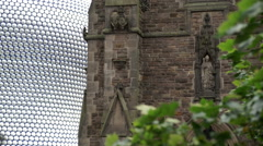 Detail of St Martin in the Bull Ring church, Birmingham, England. - stock footage