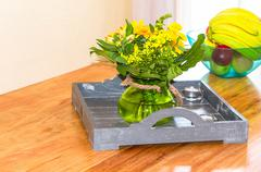 Decorative floral arrangement Stock Photos