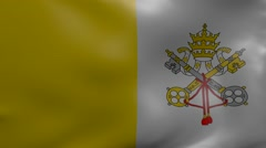 Vatican strong wind flag Stock Footage