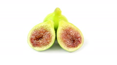 Figs rotating on white background - stock footage