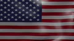 united states strong wind flag - stock footage