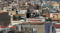 Daytime Cityscape Background of Roof Tops in the Sun 4K Stock Footage