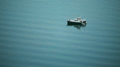 Lonely boat Stock Footage