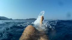 Selfie legs while swimming on back 2 Stock Footage