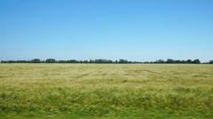 Moving along a white agricultural field (POV) - stock footage