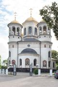 Ascension Cathedral in Zvenigorod Stock Photos