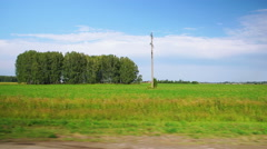 Moving along a scenic agricultural fields (time-lapse) Stock Footage
