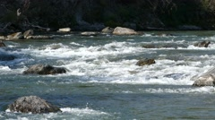 4k - Rapids on mountain river 01 Stock Footage