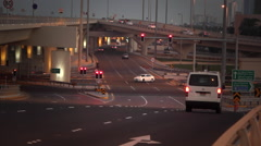 Traffic Intersection in Bahrain, in the Middle East Stock Footage