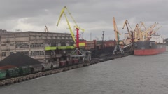 Port of Ventspils Stock Footage