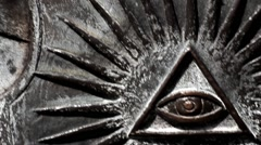 Old Symbol of All-seeing Eye - stock footage