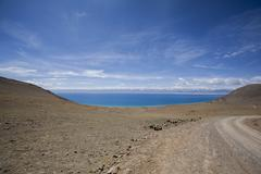 Namu Lake in Tibet, China Stock Photos