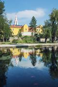 Church and convent in Tapolca, Hungary - stock photo
