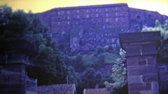 1969: Lion carved into the side of the mountain. Arkistovideo