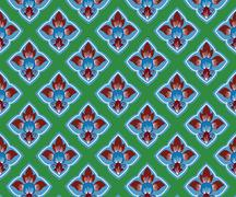 Asian tradition art pattern - stock illustration