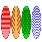 Set of Surfboards Stock Illustration