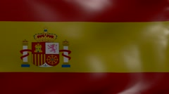 Spain strong wind flag Stock Footage