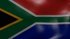 South africa strong wind flag Stock Footage