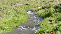 Wild river with rapids 02 - stock footage