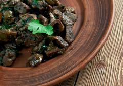 Appetizer beef liver Stock Photos